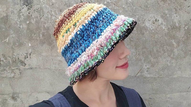 手編毛帽-混線系列 / 春雷