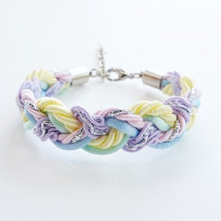 Mixed Pastel braided bracelet