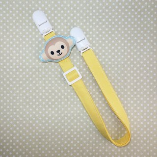 Rabbit Mint Baby monkey smiley soft toy pillow anti-out chain clip / bibs folder / napkin folder / Universal clip (BBC-M002)