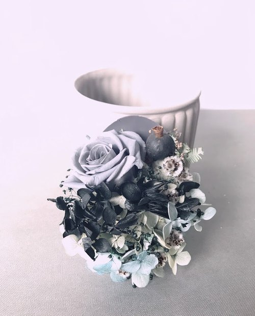 Unique wither gray roses wishes soy wax incense brick / home decorations / gift