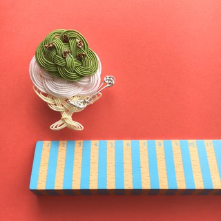 """Greentea""Shaved Ice Brooch/Hair accessory"