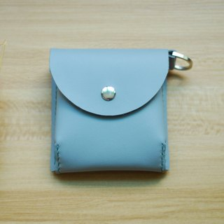 Hand-stitched leather packet change (gray)
