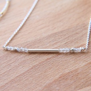 Spectral Stone Sterling Silver Natural Stone Necklace 1005 <Preparation>