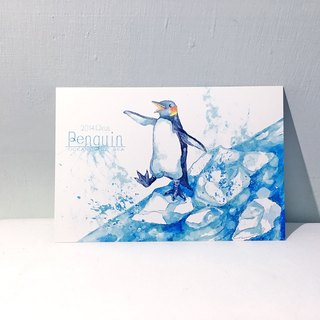Ocean and the sea first season penguin / double-sided postcard postcard