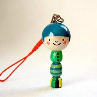 Kokeshi * leaves of the boy * strap [2]