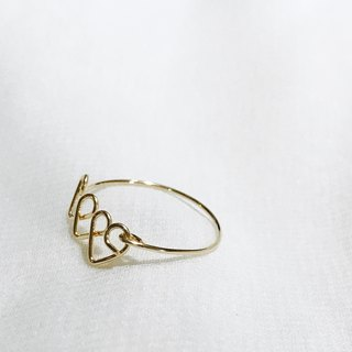 Hearts。Ring。14Kgold / silver