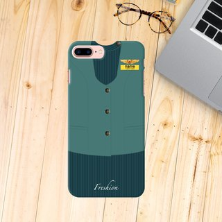 Personalised EVA AIR Airlines Air Hostess / Fight Attendant iPhone Samsung Case