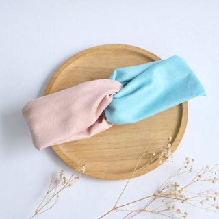 MaryWil Double Suede Hair Band - Pink/Blue