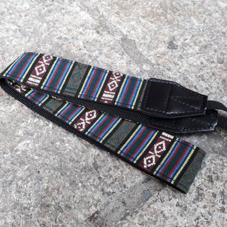 AMIN'S SHINY WORLD Featured Strike Stripe National Jacquard Camera Strap