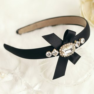 Glamorous Ribbon with Rhinestones Headband