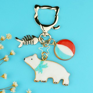 Polar Bear Song ~ Simulation sugar cookies biscuit ornaments / key ring