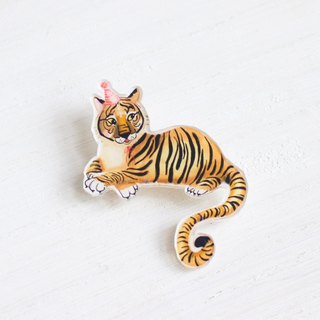 Tiger small badge / pin I Forest Daily