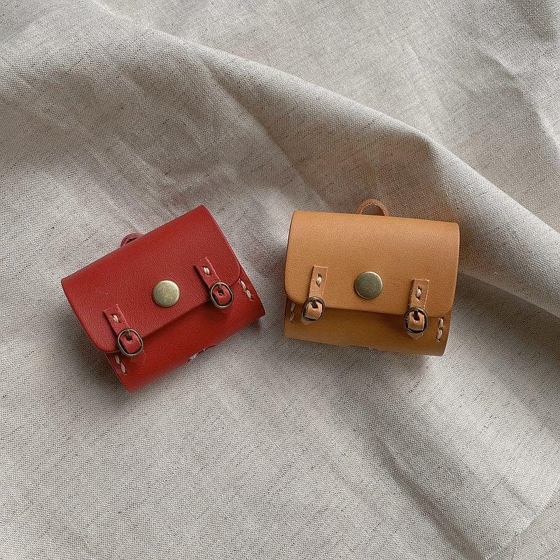 AirPods Pro 無線耳機小書包保護套 皮套 共10色