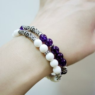 """The most unique poetess in china oriental beauty"" orchid elegant amethyst classical 925 sterling silver bracelet"