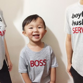 3 sets! Boss and maid paternity short T package fart clothes baby children's clothing can be customized lovers