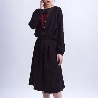 Black jacquard cardigan long coat