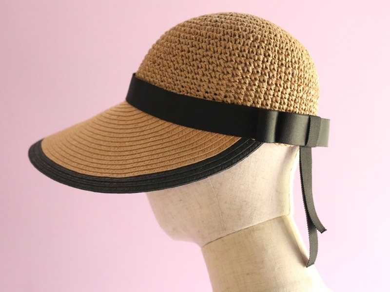 "Foldable Wide Brimmed Hat ""Mia Brown"""