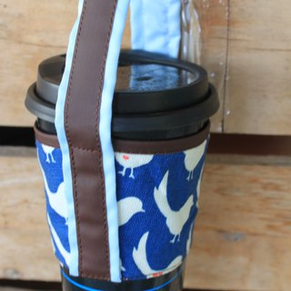 4th generation happy blue magpie accompanying cup set of natural organic cotton material