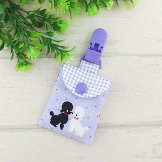 Elegant poodle dog. Ping Fu bag (can increase 40 embroidered name)