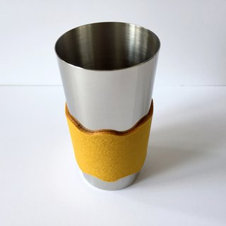 Tumbler with sleeve 400 ml mustard