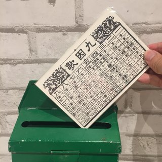 Multiplication Table Handprinted Postcard