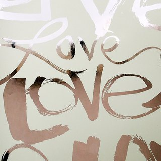Love language hot silver wrapping paper [Hallmark-wrapping paper]