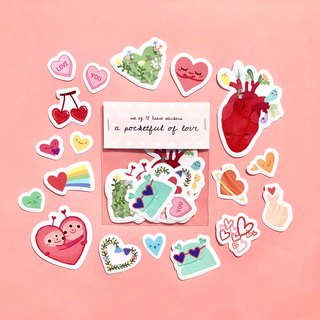 A Pocketful of Love Sticker Pack | set of 18 waterproof stickers