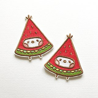 Taiwan fruit watermelon embroidered piece / pin