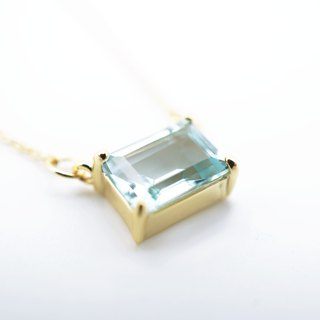 RECTANGULAR TOPAZ NECKLACE ( SILVER/ 18KG/ ROSEGOLD )