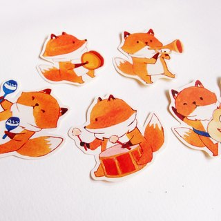 Fox Band Sticker/Waterproof