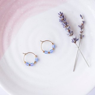 Simple geometry. Small circle glass beads Brass earrings Sister intimate friends Mother's Day gift