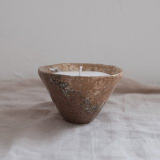 star lake / pottery candle (small)