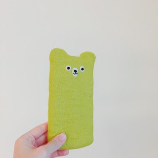 Wool felt - green and green shape mobile phone sets (i6 size)
