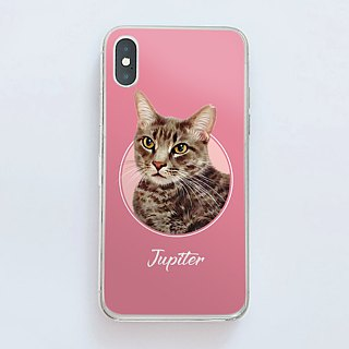 Customized characters, pet portrait phone case (small fresh style)