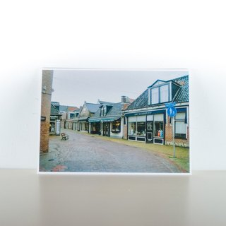 Photographic Postcard: Early Morning Street View, Grouw, Fryslân, Nederland