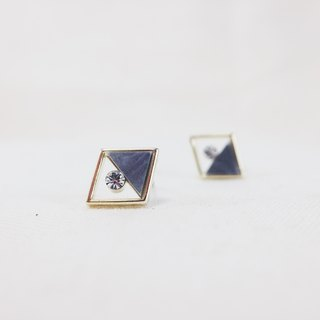 Golden Age - Ink Black Earrings (pair) = can be changed ear clip =