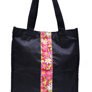 Taiwan art bag patchwork melon pattern [Boute bottle recycling environmental fiber fabric]