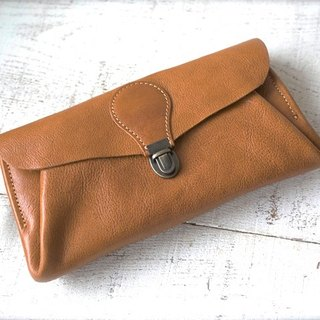 "Genuine leather wallet ""series-envelope"" camel"
