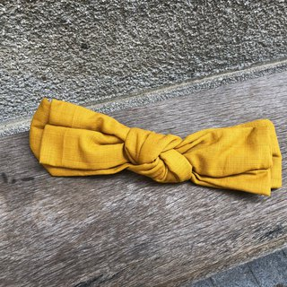 Big butterfly twisted hair band _ together picnic _ turmeric