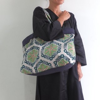 Tote bag made from handle / green