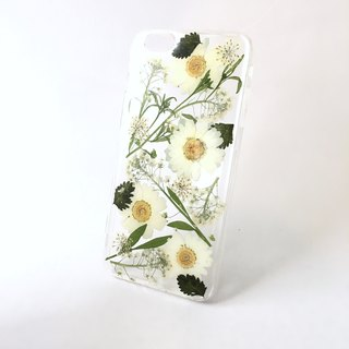 2017 green and white with :: Herbal green fresh noble embossed phone case