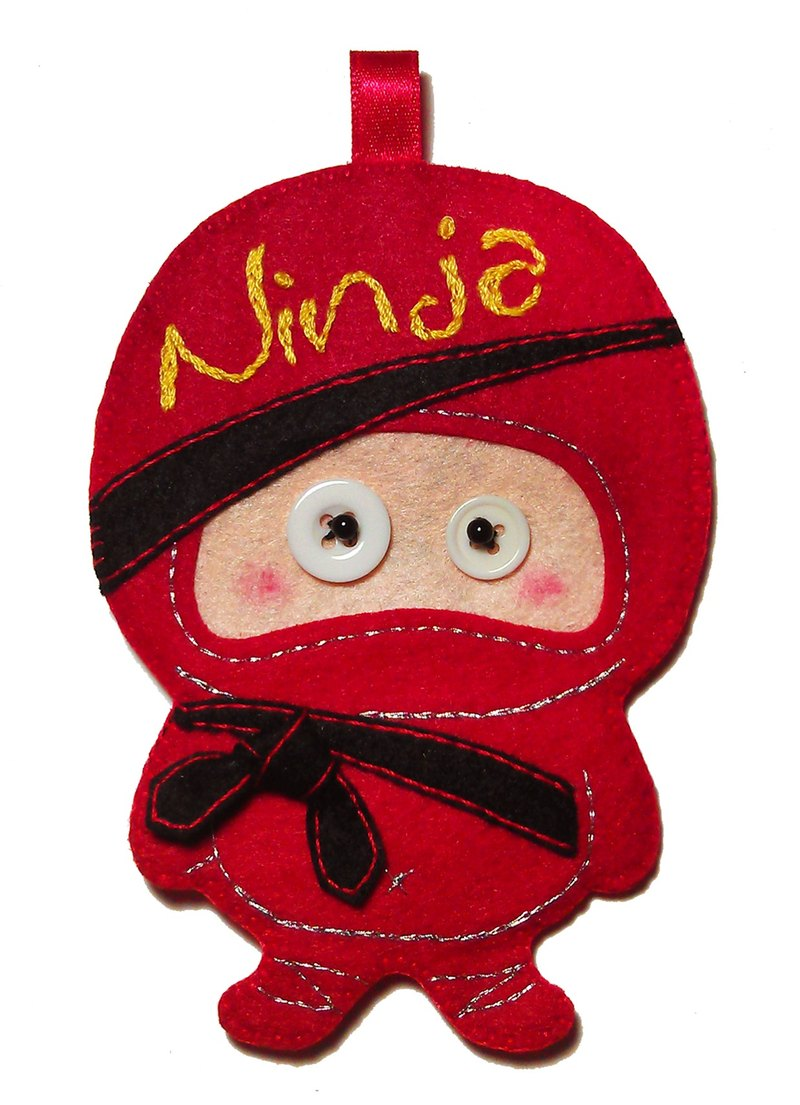 Ninja card holder - red