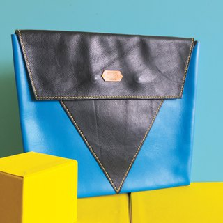 Sonniewing's Playful Color Block Leather Clutch (fit 13inch MacBook Pro)