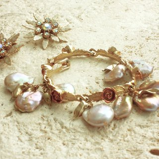 Rose pearl antique bracelet