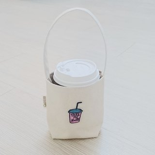 Environmental protection bag beverage coffee bag embroidery beverage cup
