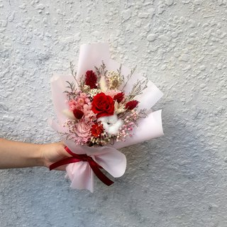Love | not withered roses. Sweet bouquet. Dry flowers. Valentine's Day present