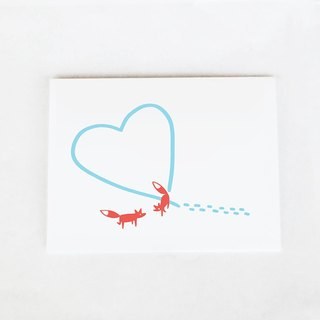 Forest & Waves Valentine's card / fox