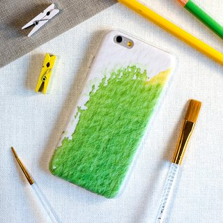 Green and Yellow watercolors. Matte Case (iPhone, HTC, Samsung, Sony)