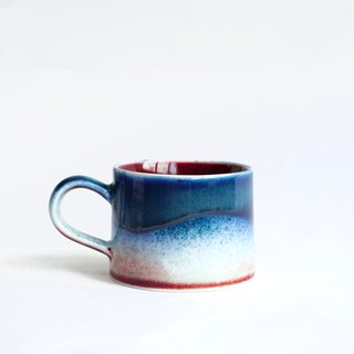 Flambe Glaze Mug-Galaxy Blue