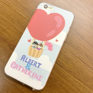 Exclusive Order - Personalized Cartoon Mini Face Maker iPhone Case phone transparent soft cover protective cover / free plus word / can be customized